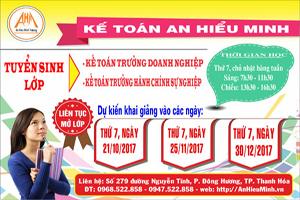 Tuyển sinh lớp Bồi dưỡng Kế toán trưởng Doanh nghiệp và hành chính sự nghiệp tại Thanh Hóa